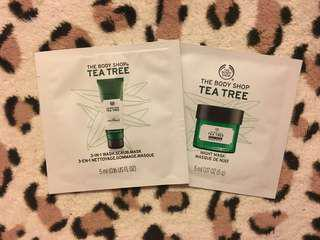 The Body Shop Samples - Mask collection