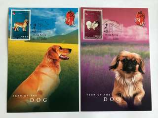 Hong Kong 2006 Year of the Dog Maxicard