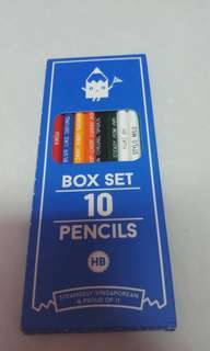 Pack of pencils with engraved Singlish phrases