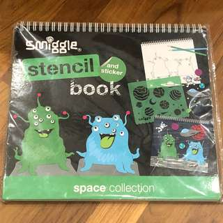 BN Smiggle stencil and sticker book