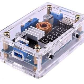726. DC DC Voltage Regulator 5-36V to 1.25-32V Buck Converter Step Down Power Supply Trandformer Constant Voltage & Current Adjustable Power Volt Stabilizer with Amp volt LED Display USB Output