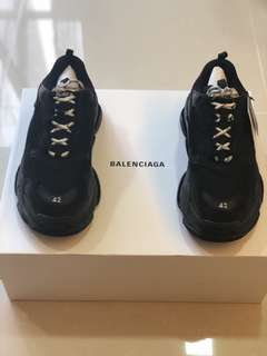 Balenciaga Triple S Distressed Black