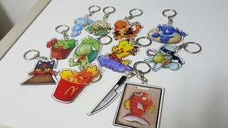 Pokemon keychain handmade