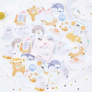 [PO] cute animal sticker pack