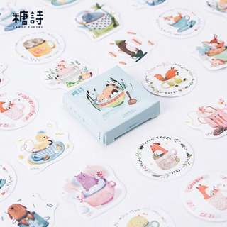 [PO] porcelain animals sticker pack