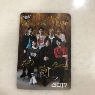 Got7 Photocard