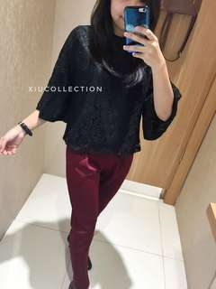 Elsa mock Lace blouse