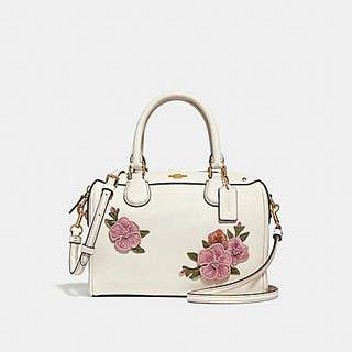 MINI BENNETT SATCHEL WITH FLORAL EMBROIDERY COACH F28075