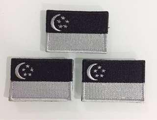 Singapore Flag with Velcro