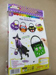 New limited. BAG self make for Halloween.Felt candy bag kit to collect sweets
