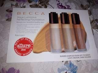 Sample Becca Aqua Luminous perfecting Foundation