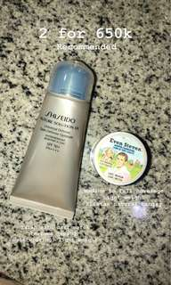 The Balm Even Steven + Shiseido Sunblock
