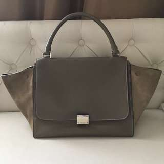 Celine Trapeze Cinza 100% authentic