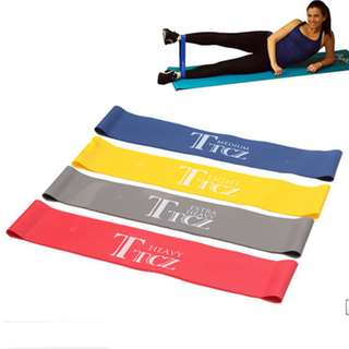 TCZ Gym and Exercise Wellness Resistance Bands (Blue,Yellow,Red)