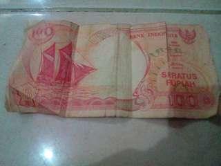 Uang jadul Rp.100