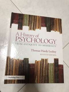 History of psychology 7th edition