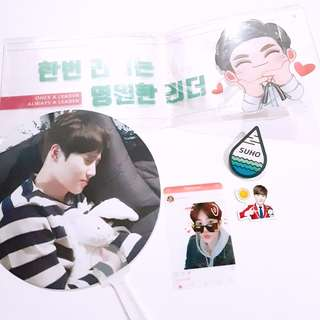 EXO Suho Transparent banner slogan handfan batch sticker transparent photocard