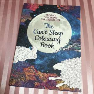 The Can't Sleep Coloring Book for grown-ups