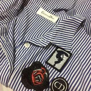 Christian Dior asymmetric hem button down / polo