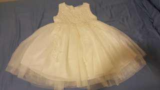 🚚 女童可愛白禮服