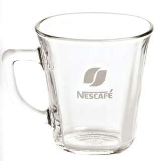 Nescafe 透明玻璃咖啡杯