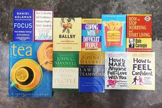 Books to let go! RM20 each