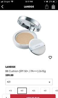 BN LANEIGE BB CUSHION #21