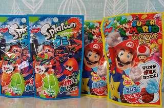 🚚 現貨 日本NOBEL雙汽水軟糖 雙水果軟糖 蘇打可樂QQ糖 橘子QQ糖 哈密瓜軟糖 mario splatoon