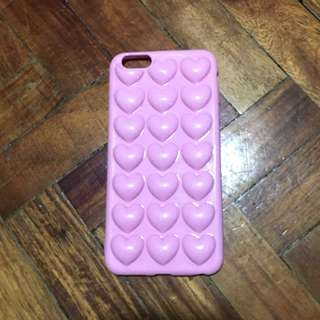 3D HEART SOFT CASE (iPHONE 6/6s plus)
