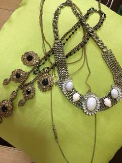 H&M statement necklaces! Grab all 3 for a steal price of P500!