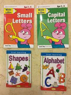 ABC, Shapes & Alphabet writing book