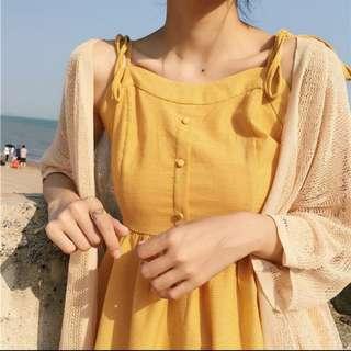 🚚 黃色小洋裝😍全新 未下水