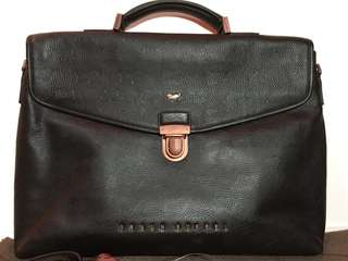 New Braun Buffel Leather Office Bag