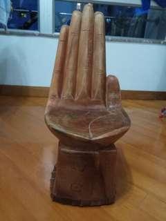 古董實木手掌型櫈仔,重約18磅