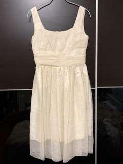 🚚 Anna sui米白紗質復古洋裝