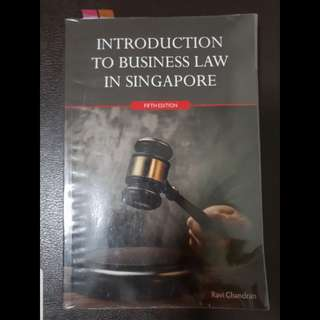 BSP1702/ BSP1004 Introduction to Business Law in Singapore (5th Edition) Ravi Chandran