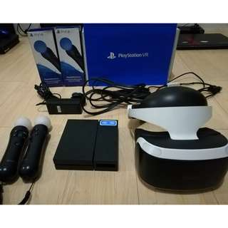 PS4 PSVR Complete Set 3 Games 2 PS Move Controller 1 Camera