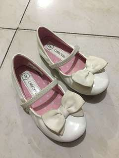 Cherokee white doll shoes