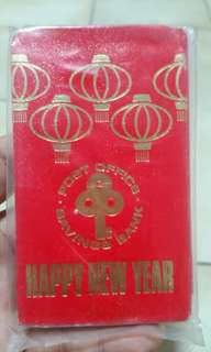 Antique red packets from posb bank
