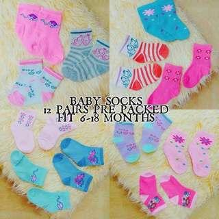 BABY SOCKS (12 Pairs)