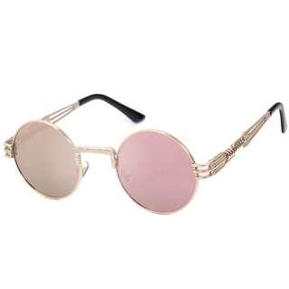 Round UV400 Vintange Retro Steampunk Sunglasses
