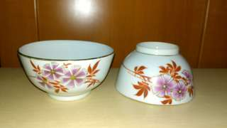 Vintage Pair of Liling Bowls.