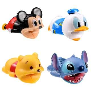 日本迪士尼代購 Mickey Donald Pooh Stitch 咬住你條叉電線 Cable Bite