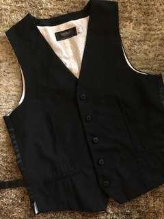Topman Sleeveless Black Vest Men's