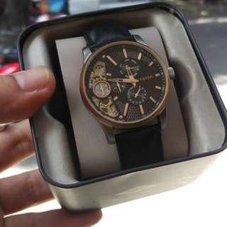 Jam tangan Fossil leather Black