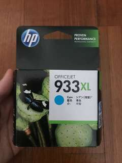 HP authentic 933XL cyan ink