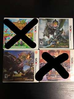 Nintendo 3DS Games (monster hunter, street fighter)