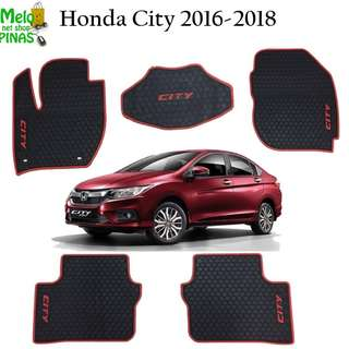 Premium Rubber Matting Honda City 2016 to 2018 (Red Lining)