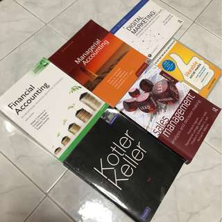 Marketing, Accounting, Business books