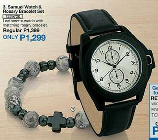 [SET]Samuel Watch & Rosary Bracelet